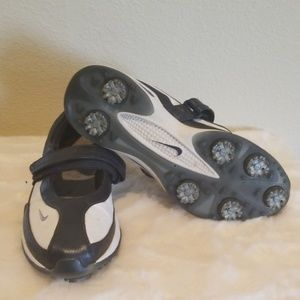 Nike Slip On Golf Shoes Mary Jane Sz. 7 Navy White
